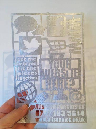 Lasercut flyer
