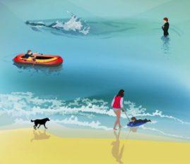 Illustration Beach life 2007