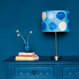 Blue Lampshade Seashells 30cm linen