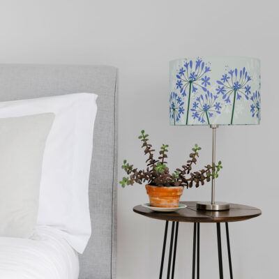 Agapanthus Lamp Shade design from Cornwall