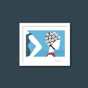 Olive Augusta Surf Girl print