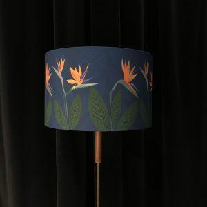 Bird of Paradise Flower Blue lamp shade 30cm