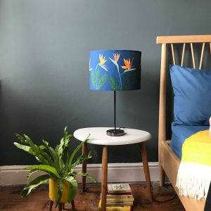 Bird of Paradise Flower Blue lamp shade 30cm SALE