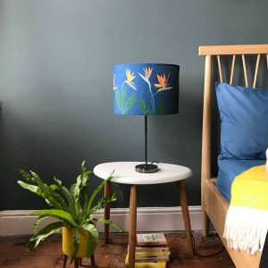 Bird of Paradise Flower Blue lamp shade 30cm SALE