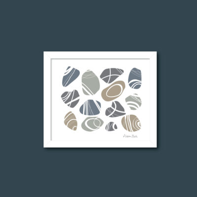 St Piran's Pebbles art print from Cornwall