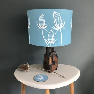 Teasel Blue lamp shade 20cm