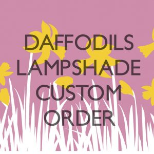 Daffodils on Dusty Pink 30cm Lampshade Bespoke order