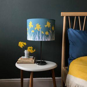 Daffodil printed Linen Lampshade