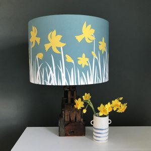 Daffodil printed Linen Lampshade