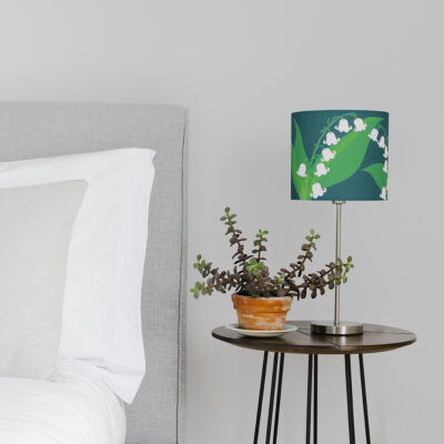 Lily of the Valley designer lamp shade