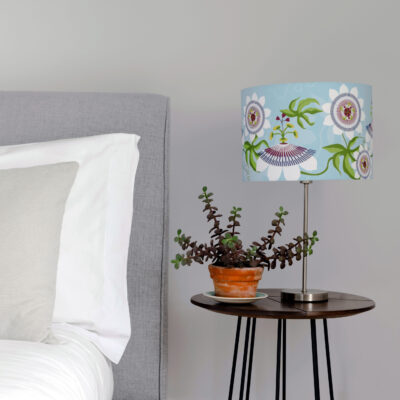 Passiflora illustration Blue designer lamp shade