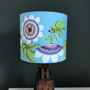 Passiflora Blue lamp shade 20cm