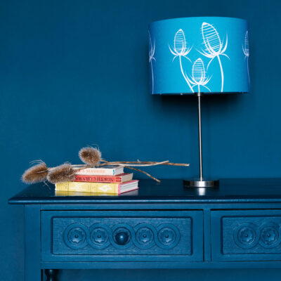 Teasel Blue designer lamp shade
