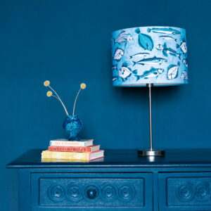 Catch of the Day printed Linen Designer Lampshade
