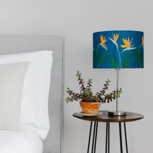 Bird of Paradise Flower Blue lamp shade 30cm