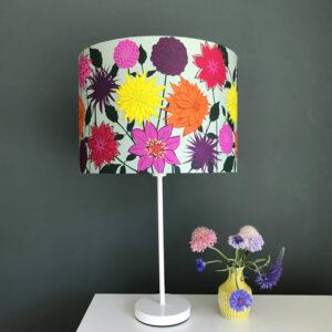 Dahlia Flower designer lamp shade 30cm