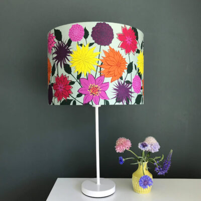 Dahlia Flower designer lamp shade