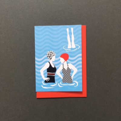 Lido Swim Greeting Card