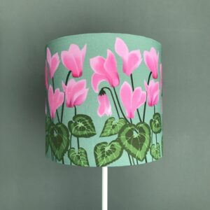 Cyclamen Floral lampshade
