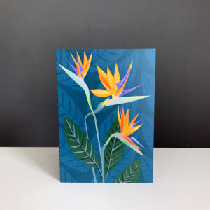 Strelitzia Bird of Paradise Flower Greeting Card