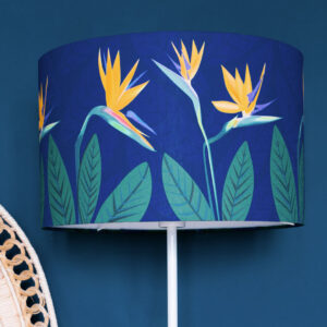 Bird of Paradise Flower Blue lamp shade 40cm