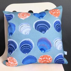 Seashell cushion linen fabric