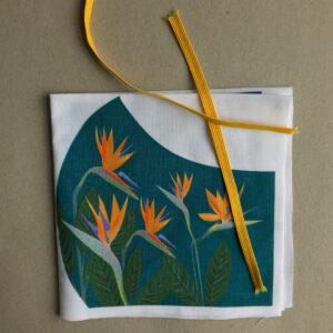 Kit for Bird of Paradise Flower Face Covering