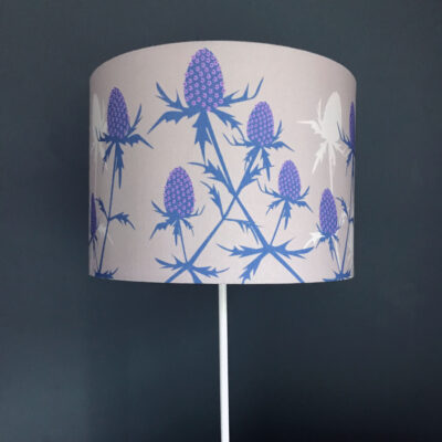 Eryngium Sea Holly flower designer lamp shade