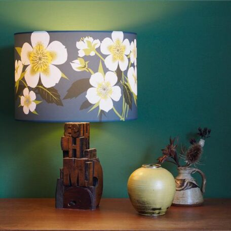 Grey Hellebore lampshade