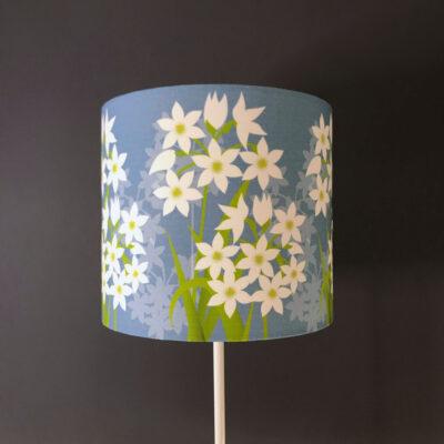 Paperwhite narcissus designer floral lampshade