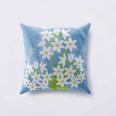 Paperwhite Narcissus Designer Cushion