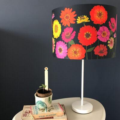 Zinnia designer lampshade